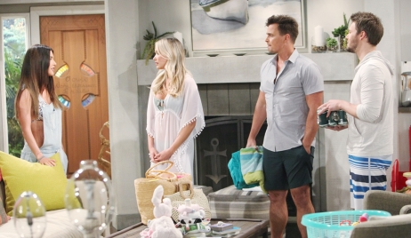 Steffy Flo Wyatt and Liam visit Bold and Beautiful