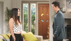 Steffy shares news Thomas Bold and Beautiful