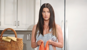 Steffy gives a wary look on Bold and Beautiful
