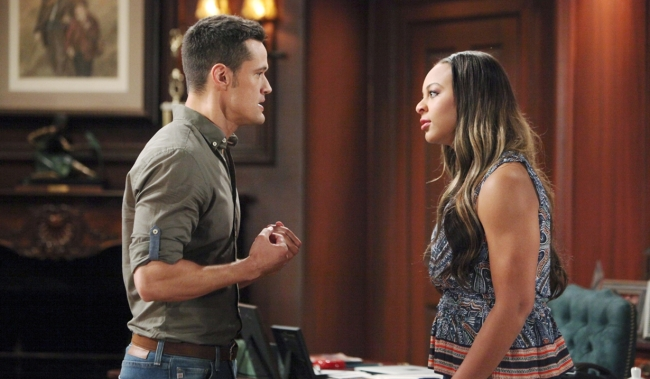Thomas and Emma argue on Bold and Beautiful