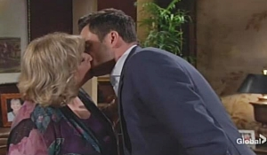 Traci Cane kiss Young and Restless