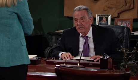 Victor clash Christine Young and Restless