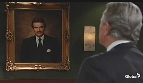 victor gazes at portrait Young and Restless