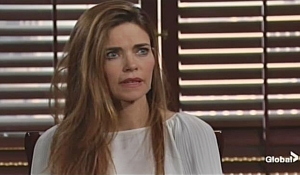 Victoria reacts illness Young and Restless