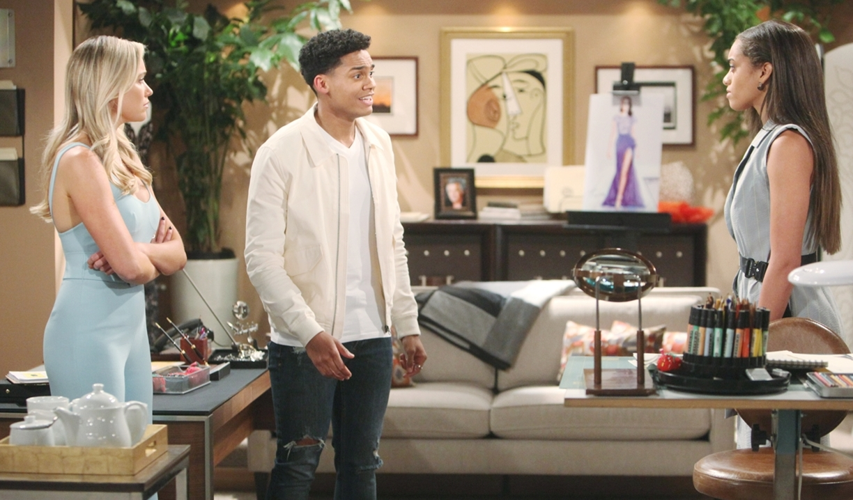 Xander Flo Zoe debate secret on Bold and Beautiful