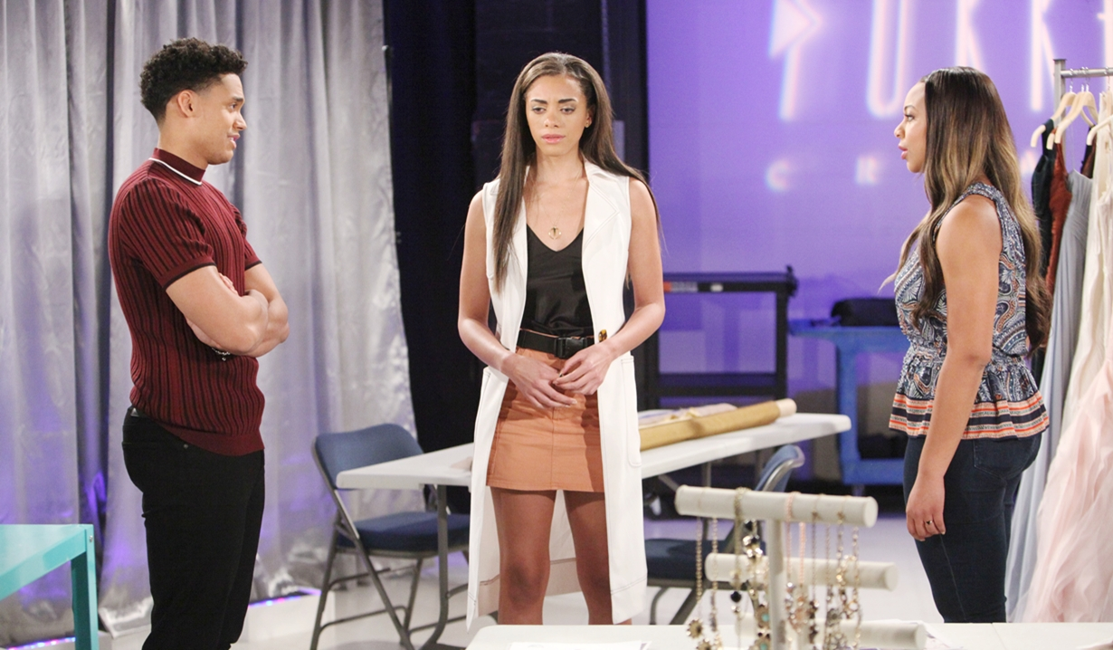 Xander, Zoe and Emma after reveal on Bold and Beautiful