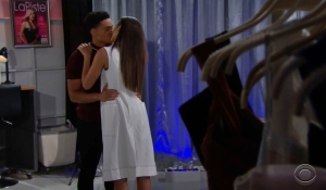 Xander and Zoe kiss Bold and Beautiful