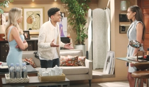 Xander's angry with Flo Zoe on Bold and Beautiful