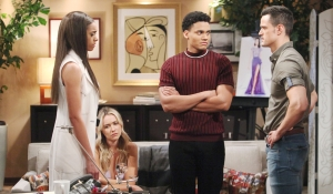 Zoe, Xander, Flo, and Thomas discuss Emma's death Bold and Beautiful