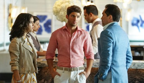 Bryan Craig, Denyse Tontz and Demian Bichir in Grand Hotel