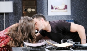 ciara kissing ben at spd days of our lives