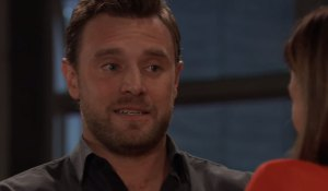Drew looks wary of Kim on General Hospital
