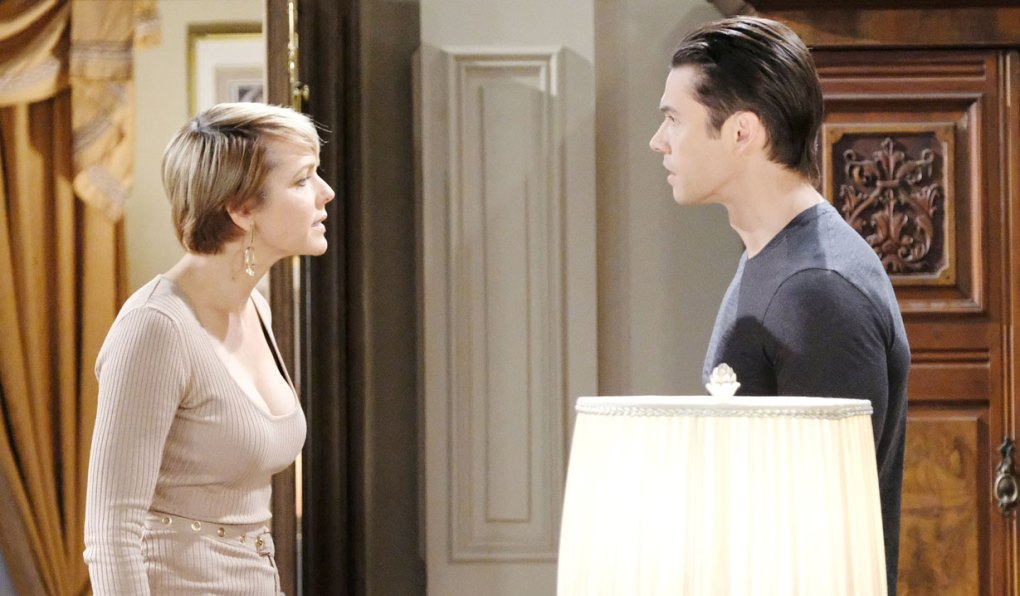 kristen as nicole argues with xander on days of our lives