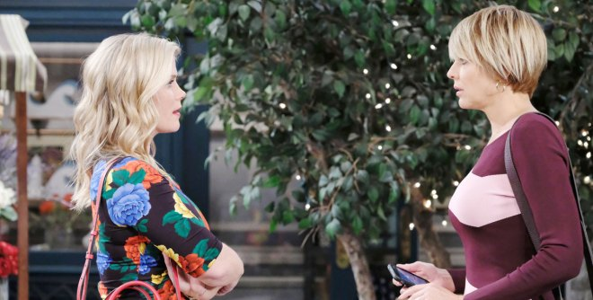 sami confronts kristen in nicole mask on days of our lives
