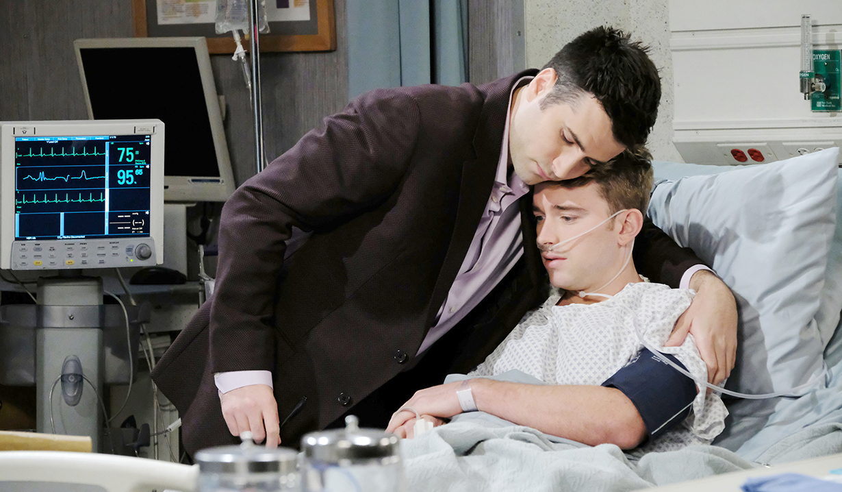 sonny hugs will hospital days of our lives
