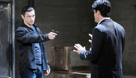 xander holds gun on ted days of our lives