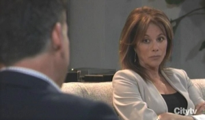 Alexis and Neil talk therapy General Hospital