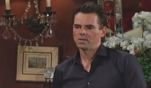 Billy listens to Jack and Ashley's announcement on Young and Restless