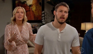 Brooke and Liam argue with Ridge on Bold and Beautiful
