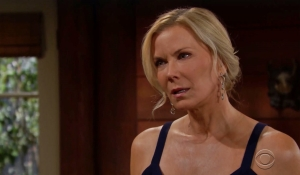 Brooke grills Hope about the engagement on Bold and Beautiful