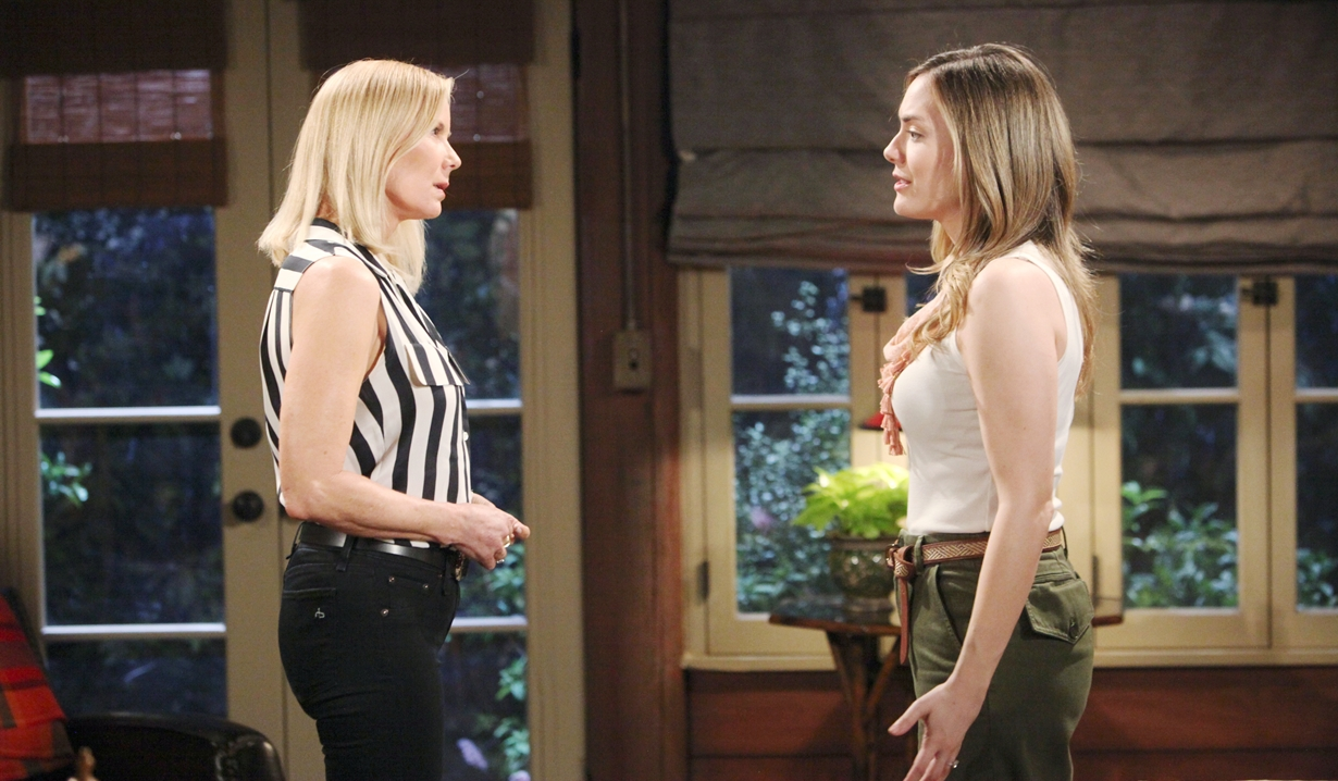 Brooke talks to Hope on Bold and Beautiful