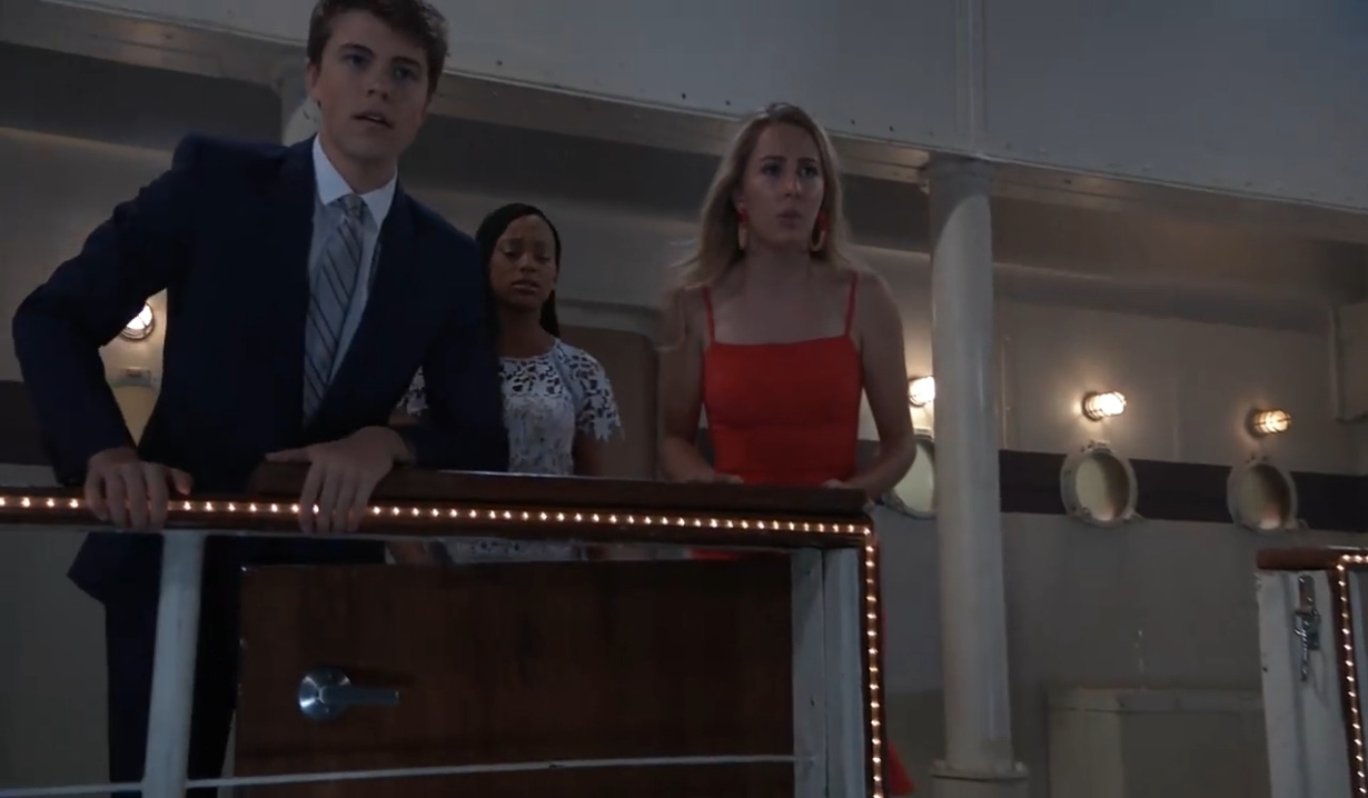 Cam, Trina, Joss see Obrecht overboard General Hospital