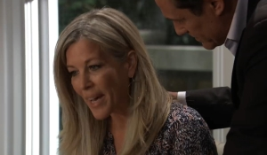 Carly worries to Sonny General Hospital
