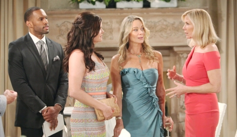 Carter, Katie, Donna and Brooke await Hope's wedding Bold and Beautiful