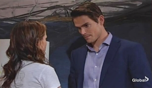 Adam visits Chelsea on Young and Restless