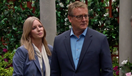 Christine Paul face Victor Young and Restless