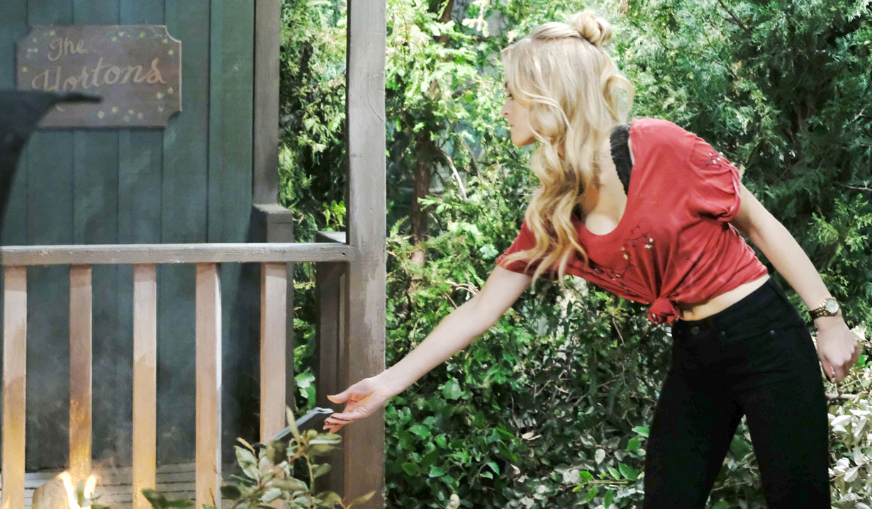 Fire starter Claire on Days of our Lives