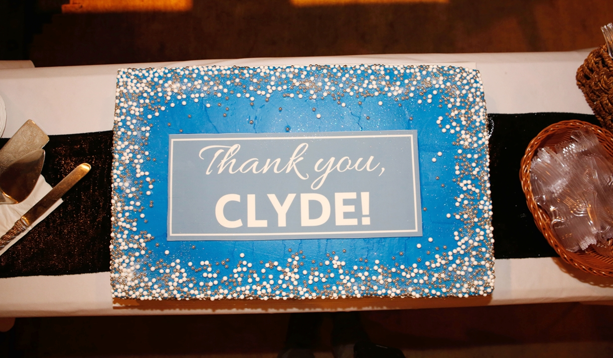 Clyde Kaplan retirement cake Bold and Beautiful