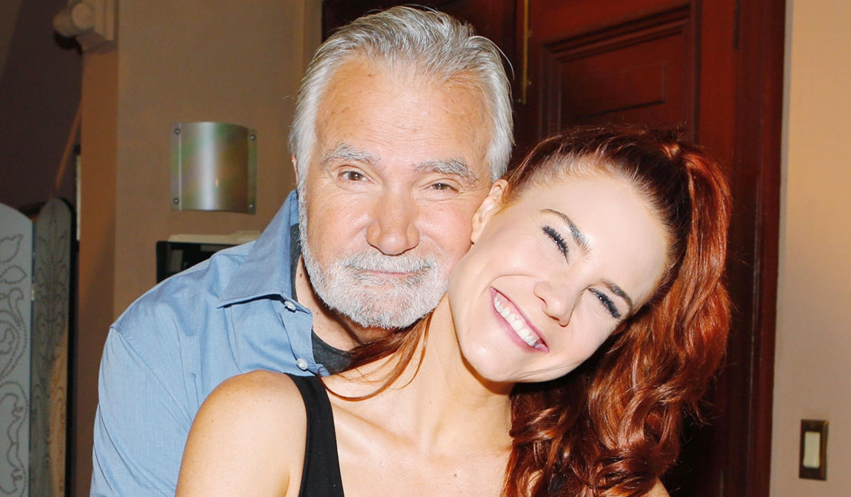 John McCook, Courtney Hope at Clyde Kaplan retirement Bold and Beautiful