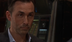 Curtis questions Valentin about Cassandra General Hospital