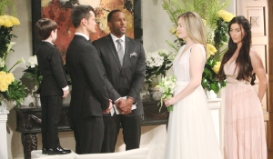 Douglas, Thomas, Carter, Hope and Steffy at altar Bold and Beautiful