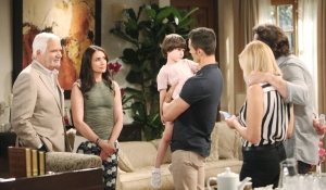 Thomas and Douglas give Eric, Quinn, Brooke, Ridge news on Bold and Beautiful