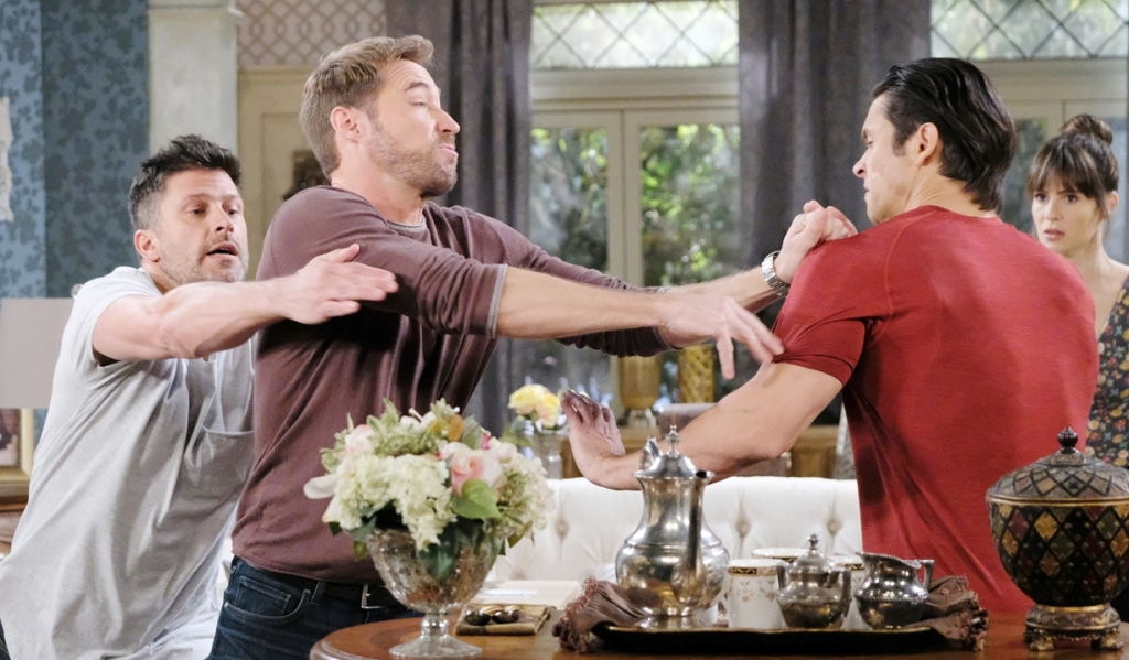 Eric, Rex, Xander fight as Sarah watches Days of our Lives