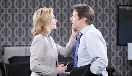 Eve sees Jack off on Days of our Lives