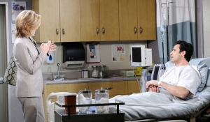 Eve visits Ted in hospital on Days of our Lives