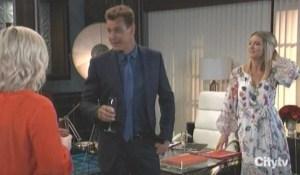 Jax toasts with Nina and Maxie General Hospital