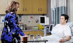 Kate visits Ted in hospital on Days of our Lives