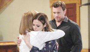 Kim hugs Monica on General Hospital