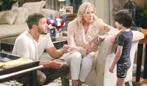 Douglas gives Brooke and Liam news on Bold and Beautiful