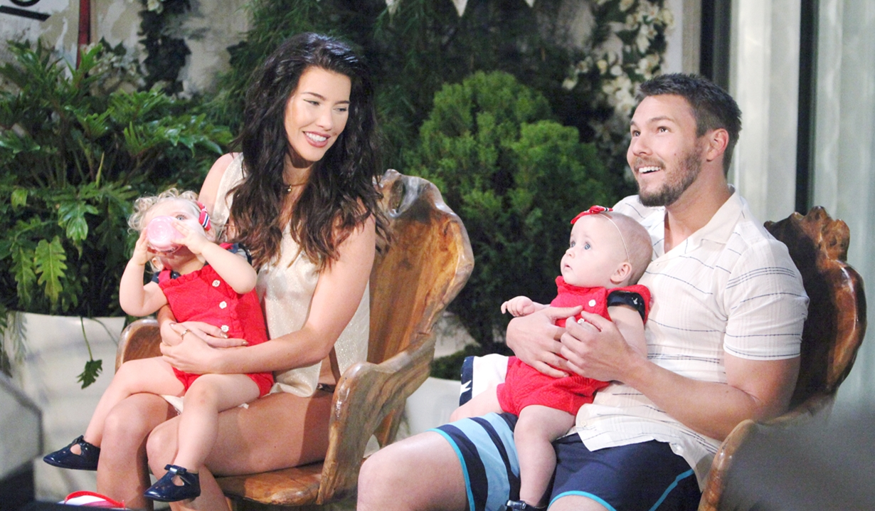 Liam, Steffy, Kelly, Phoebe, Fourth of July Bold and Beautiful