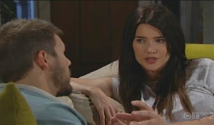 Liam and Steffy discuss Hope Bold and Beautiful
