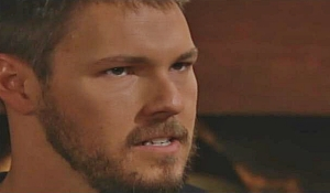 Liam glares at Thomas on Bold and Beautiful