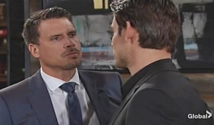 Nick confronts Adam dinner Young and Restless