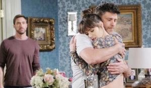 Rex sees Eric hug Sarah Days of our Lives