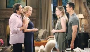 Ridge, Brooke, Hope, and Thomas talk on Bold and Beautiful