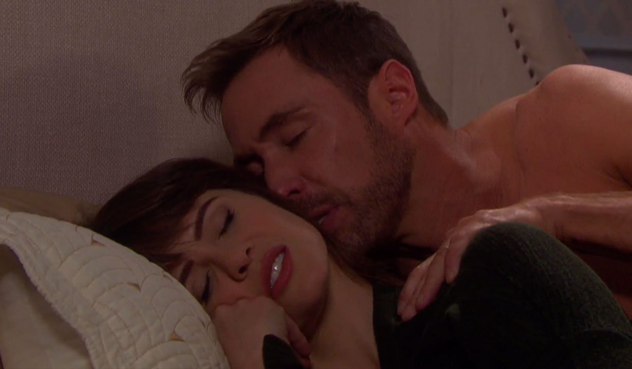 Sarah and Rex in bed on Days of our Lives